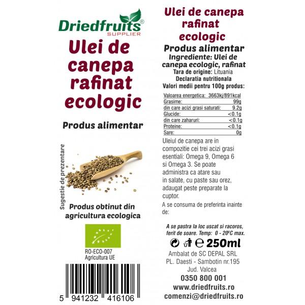 Ulei canepa BIO - 250 ml