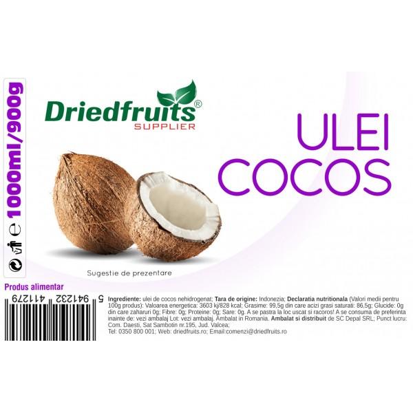 Ulei cocos pentru gatit (borcan) - 1000 ml/900 g