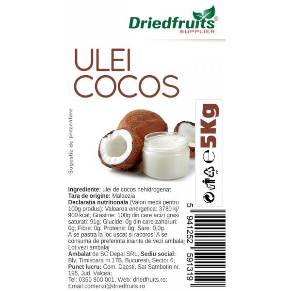 Ulei cocos pentru gatit Driedfruits - 5 kg