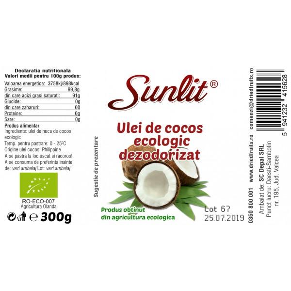 Ulei cocos alimentar BIO - 370 ml/300 g