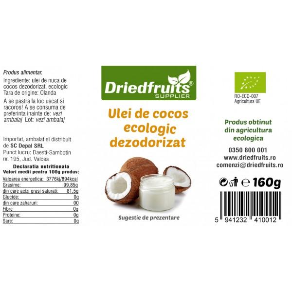 Ulei cocos alimentar BIO - 200 ml/160 g