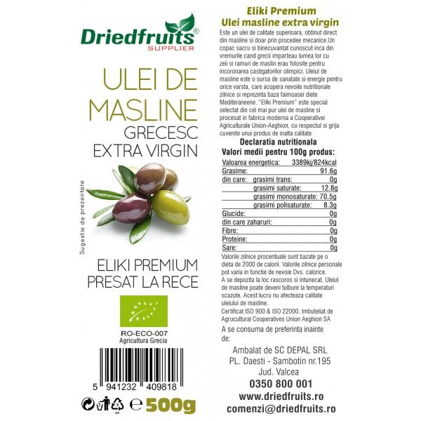 Ulei masline extra virgin Grecia BIO - 500 ml