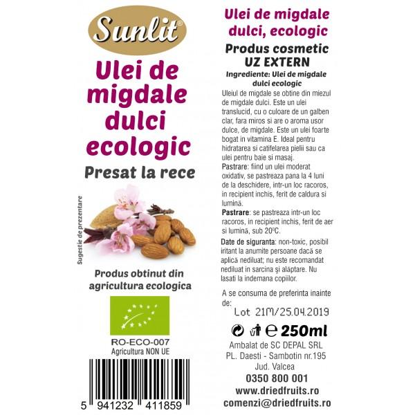 Ulei migdale dulci cosmetic BIO - 250 ml