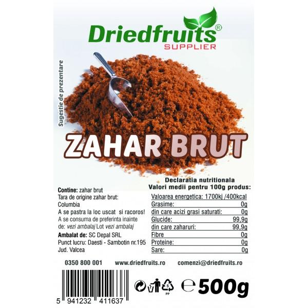 Zahar brut (din trestie de zahar) - 500 g