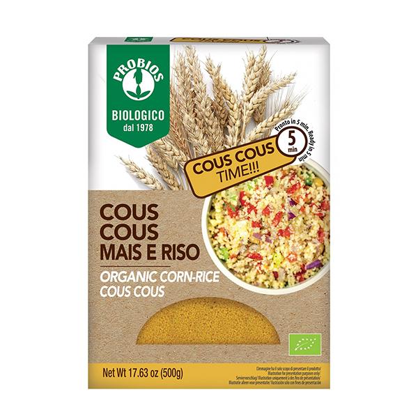 Cuscus din orez si porumb BIO Probios - 500 g