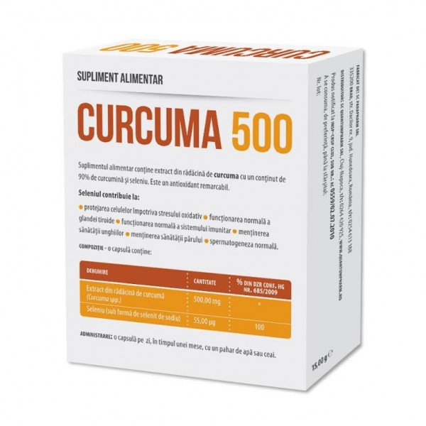 Curcuma 500 mg Parapharm - 30 capsule