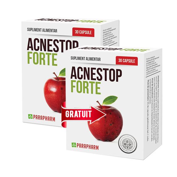 Acne stop forte (Pachet 1+1 gratis) Parapharm - 2 x 30 capsule
