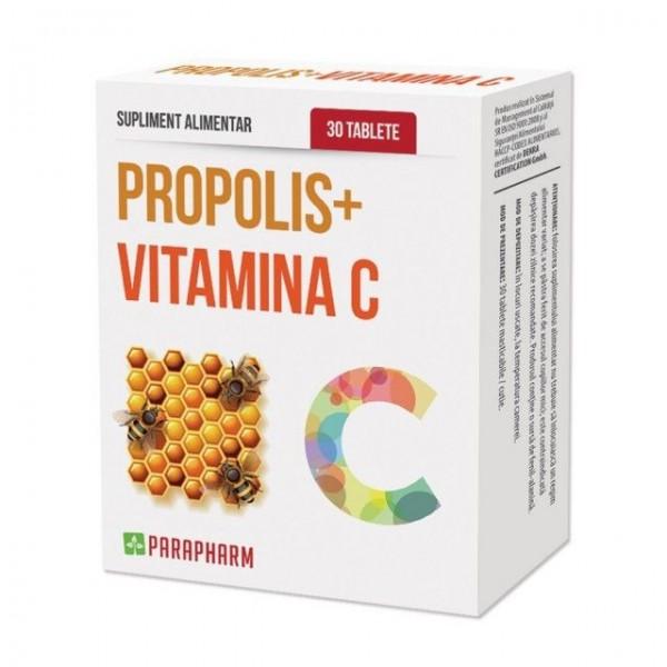Propolis + vitamina C Parapharm - 30 tablete