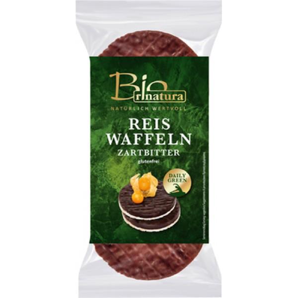 Rondele de orez expandat cu ciocolata neagra (fara gluten) BIO - 100 g