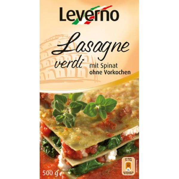 Foi pentru lasagna cu spanac (fara ou) Leverno - 500 g