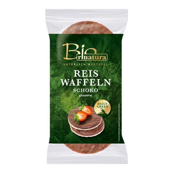 Rondele de orez expandat cu ciocolata (fara gluten) BIO Rinatura - 100 g