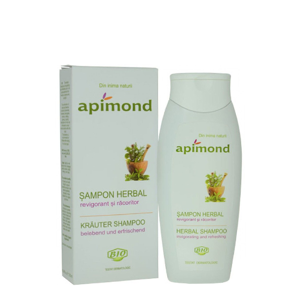 Sampon herbal revigorant si racoritor BIO Apimond - 250 ml