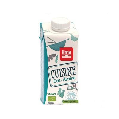 Crema (smantana vegetala) din ovaz (fara gluten, fara lactoza) BIO Lima - 200 ml