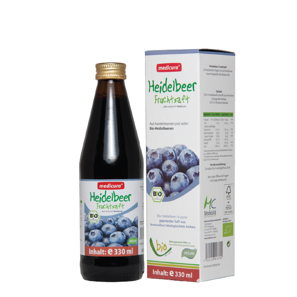 Suc afine BIO Medicura - 330 ml