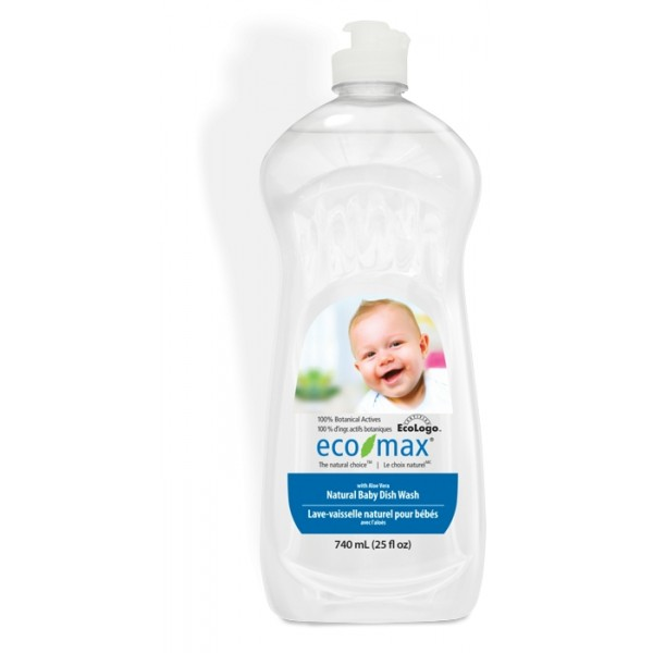 Solutie spalat vase si biberoane, cu aloe vera, pentru bebelusi Ecomax - 740 ml