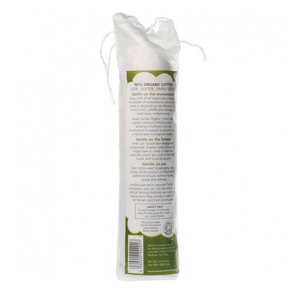 Dischete demachiante din bumbac organic Macdonald & Taylor - 100 bucati