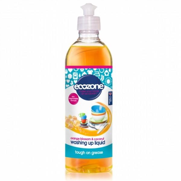 Solutie pentru spalat vase cu floare de portocal si nuca de cocos ECOZONE - 500 ml