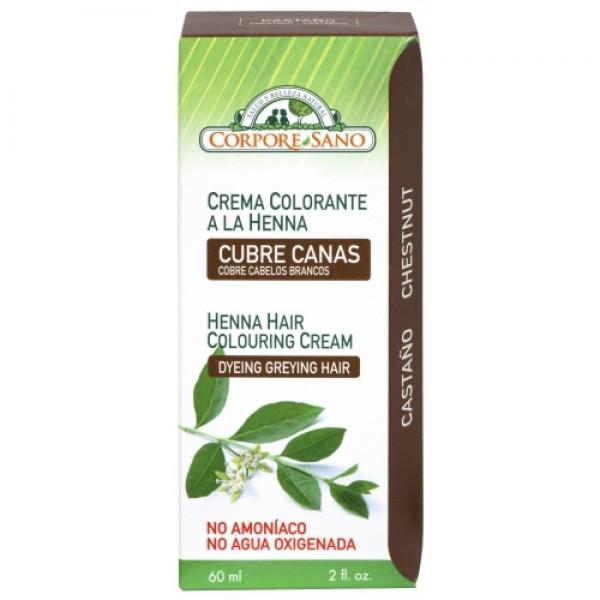 Vopsea henna crema semipermanenta (castaniu) Corpore Sano - 60 ml
