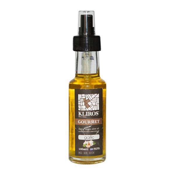 Ulei masline extra virgin cu usturoi (spray) Kliros (Grecia) - 100 ml