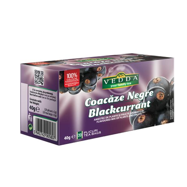Ceai Coacaze Negre (20 plicuri) VEDDA - 40 g