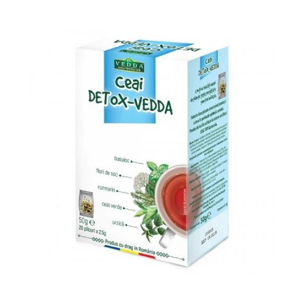 Ceai Detox (20 plicuri) Vedda - 50 g