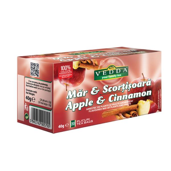 Ceai mar & scortisoara (20 plicuri) Vedda - 40 g