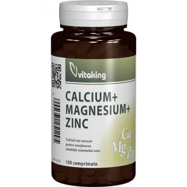 Calciu-Magneziu cu Zinc VITAKING - 100 comprimate