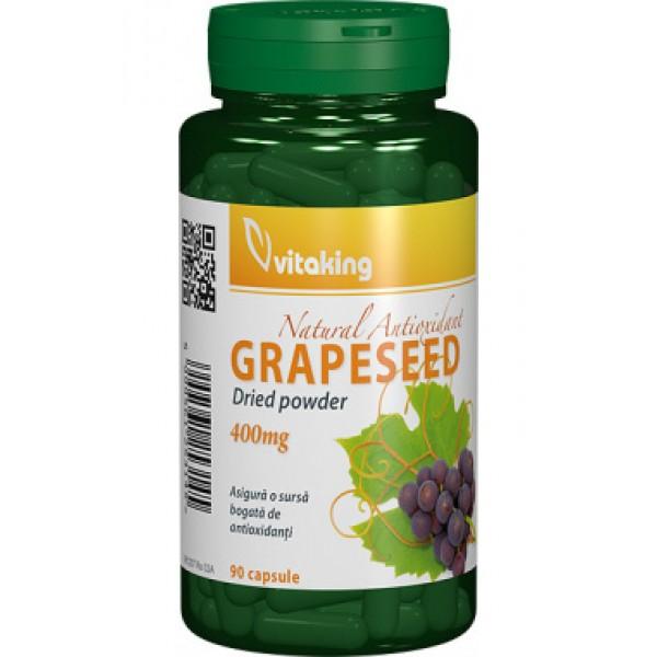Capsule din samburi de struguri (Resveratrol) 400 mg Vitaking - 90 capsule