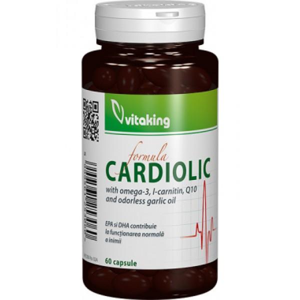 Cardiolic (Q10, Omega-3, L-Carnitina, usturoi) Vitaking - 60 capsule