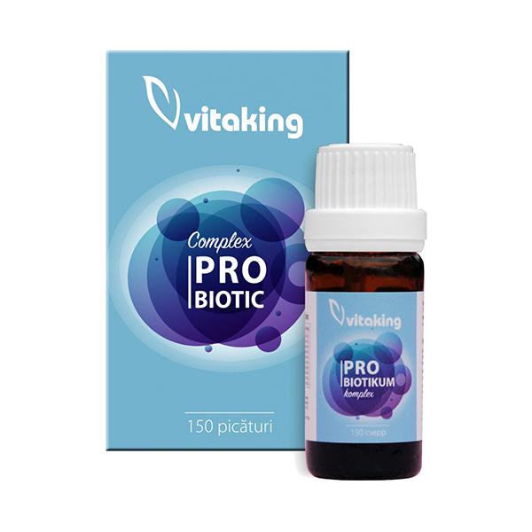 Complex Probiotic (10 tipuri de bacterii) Vitaking - 6 ml