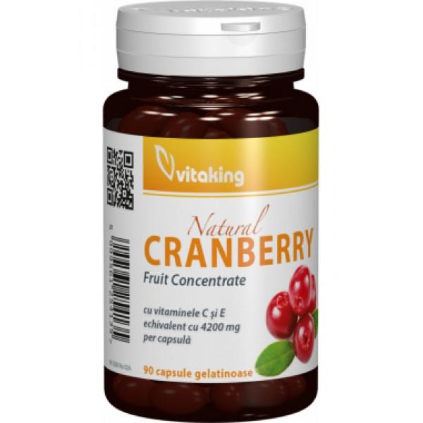 Extract de merisor (cranberry) Vitaking - 90 capsule gelatinoase