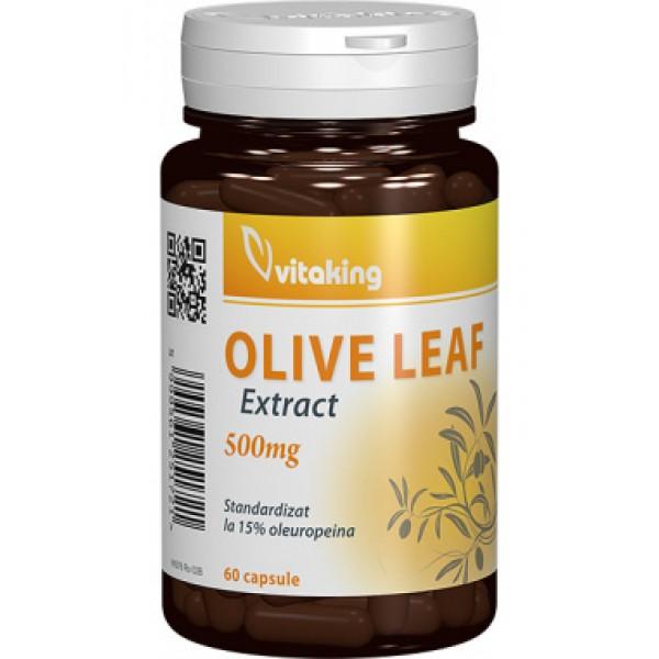 Extract strandardizat din frunze de măslin (Olive Leaf) 500 mg VITAKING - 60 capsule