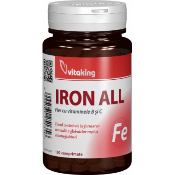 Fier cu vitaminele B si C VITAKING - 100 comprimate