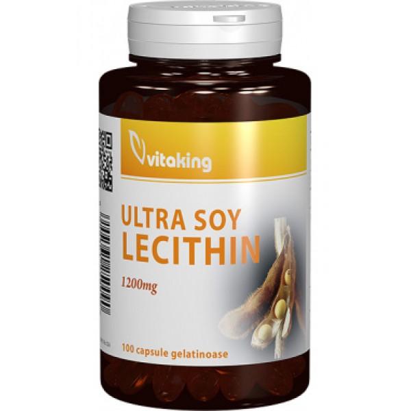 Lecitina 1200 mg VITAKING - 100 capsule gelatinoase