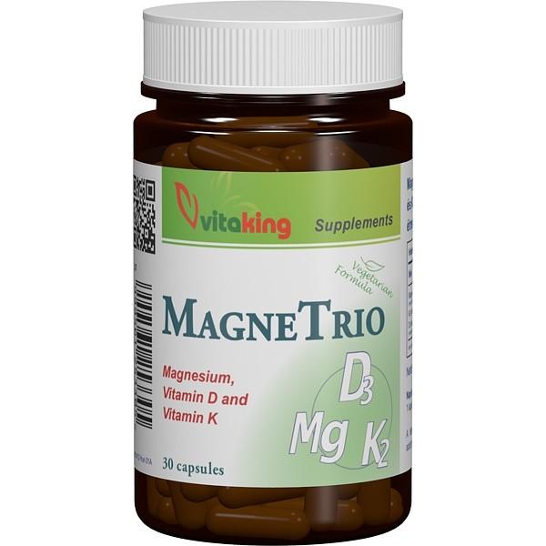MagneTrio (Magneziu, vitamina K2, vitamina D3) Vitaking - 30 capsule