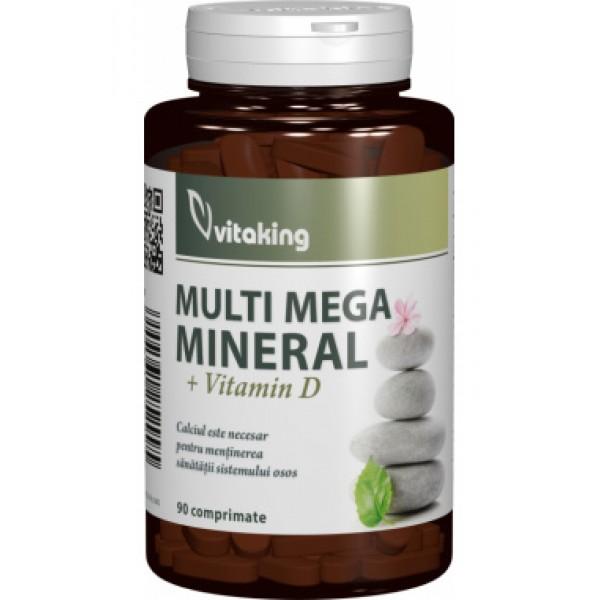 Multi Mega Mineral cu vitamina D VITAKING - 90 comprimate