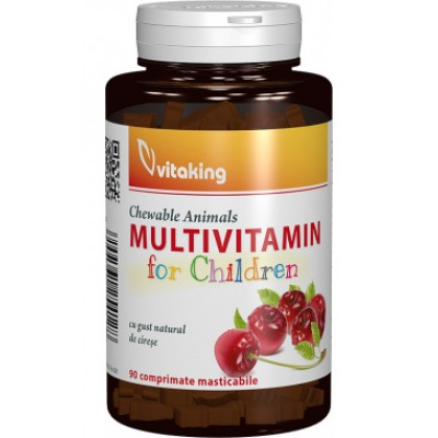 Multivitamina cu minerale pentru copii VITAKING - 90 comprimate masticabile
