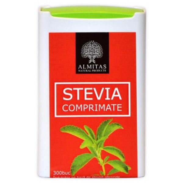 Tablete stevia ALMITAS - 300 comprimate