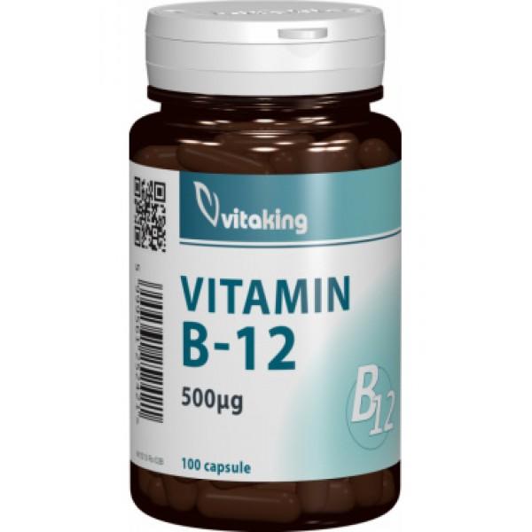 Vitamina B12 (Cianocobalamina) 500 mcg VITAKING - 100 comprimate