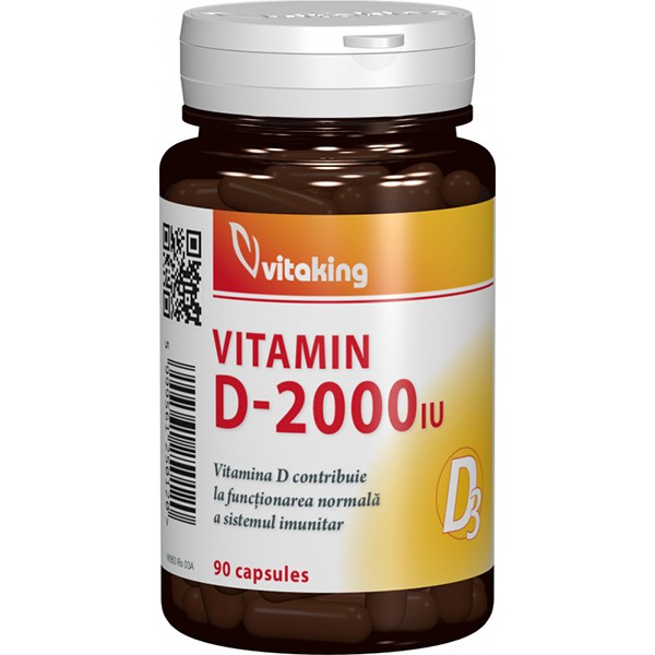 Vitamina D 2000UI VITAKING - 90 capsule
