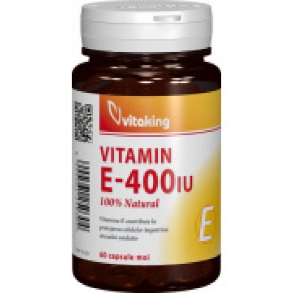 Vitamina E 400UI Vitaking - 60 capsule gelatinoase