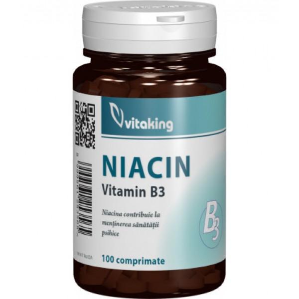 Vitamina B3 (Niacina) 100 mg VITAKING - 100 comprimate