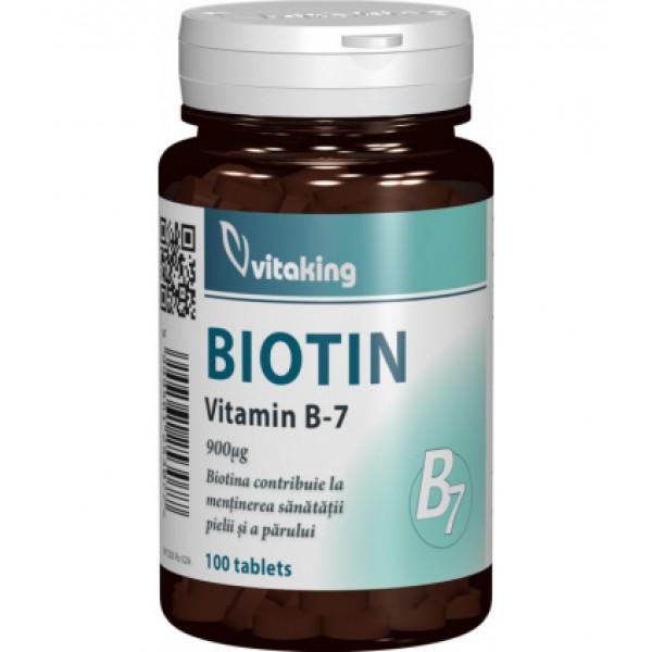 Vitamina B7 (Biotina) VITAKING - 100 capsule