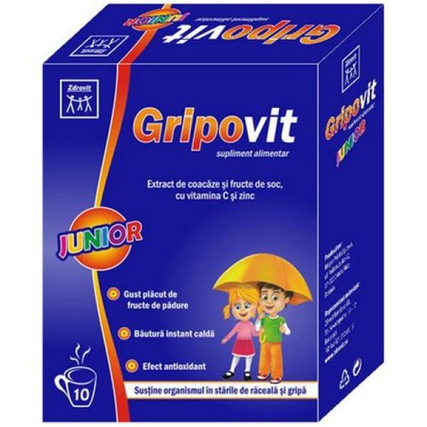 Gripovit junior Zdrovit - 10 plicuri