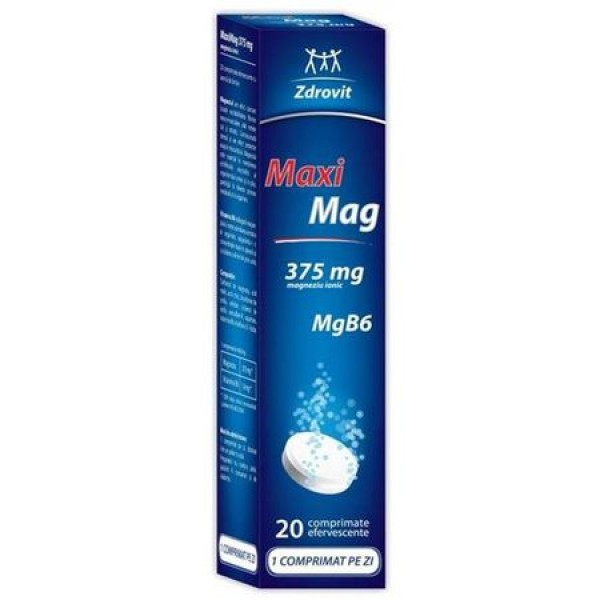 Maximag Zdrovit - 20 comprimate efervescente