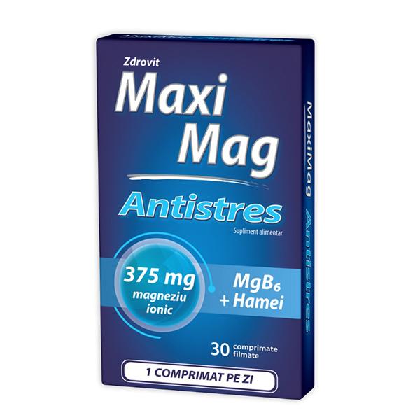 Maximag antistres Zdrovit - 30 comprimate