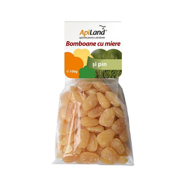 Bomboane cu miere si pin Apiland - 100 g