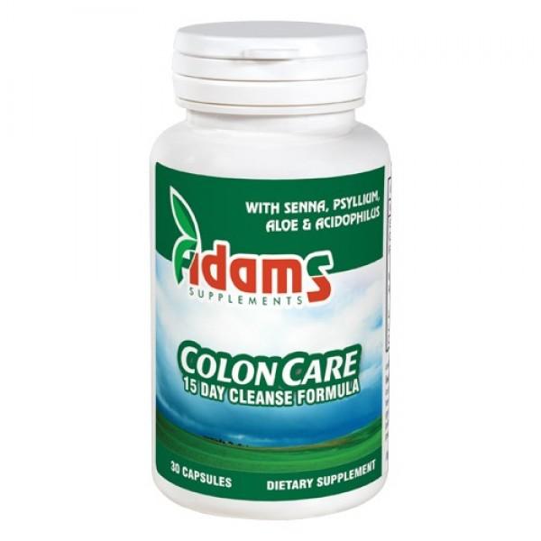 ColonCare - Detoxifiant in 15 zile Adams Supplements - 30 capsule