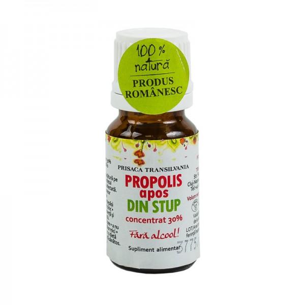Propolis apos din stup (fara alcool) Prisaca Transilvania - 10 ml imagine produs 2021 Prisaca Transilvania