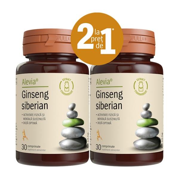 Ginseng siberian (Pachet 1+1 gratis) Alevia - 2 x 30 capsule imagine produs 2021 Alevia